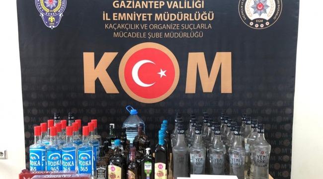 Gaziantep'te Çok Sayıda Kaçak İçki, Sigara ve Telefon Ele Geçirildi