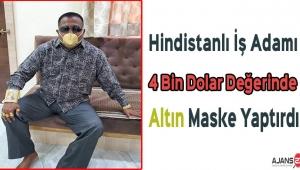 Hindistanlı İş Adamı 4 Bin Dolar Değerinde Altın Maske Yaptırdı