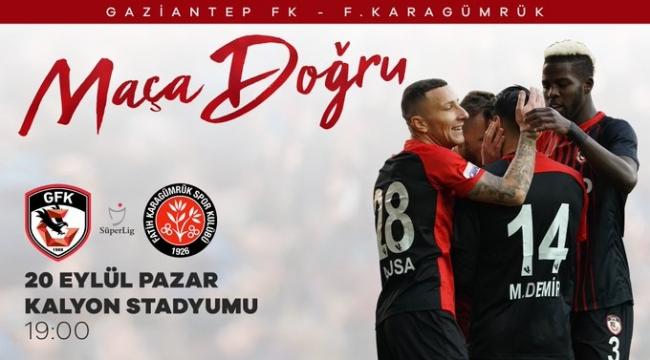 Gaziantep FK, Süper Lig'in 2. haftasında Fatih Karagümrük'ü konuk edecek