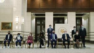 Cumhurbaşkanı Erdogan , Kamboçya, Belçika, Panama ve Danimarka Büyükelçilerini kabul etti