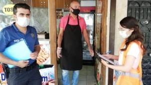 Gaziantep'te Koronavirüs tedbirleri kapsamında denetimler devam ediyor