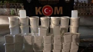 Karacaahmet Mahallesinde 1.065 litre kaçak alkol ele geçirildi