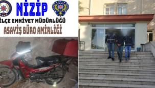 Gaziantep'te 19 suç kaydı bulunan motosiklet hırsızı yakalandı