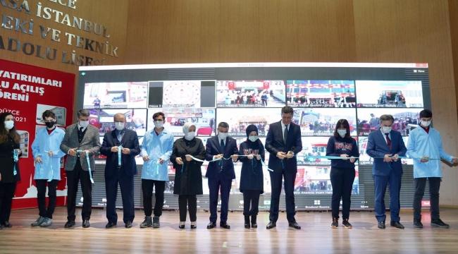 Bakan Selçuk, Düzce'de yapımı tamamlanan eğitim tesislerinin açılışını yaptı