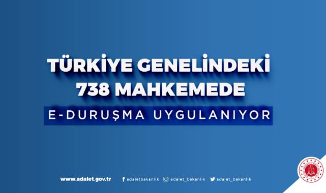 Türkiye genelinde ki 738 mahkemede E-Duruşma uygulanıyor