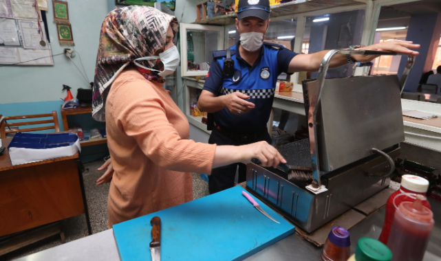 Gaziantep'te Zabıta Ekipleri Okul Kantinlerini Denetledi